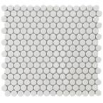 Merola Tile Penny Round Marine 12 in. x 12-1/4 in. x 5 mm Porcelain Mosaic Floor and Wall Tile (10.2 sq. ft. / case)-FKOMPR33 at The Home Depot