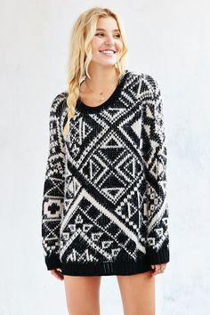 Ecote Cozy Boyfriend Pullover Sweater
