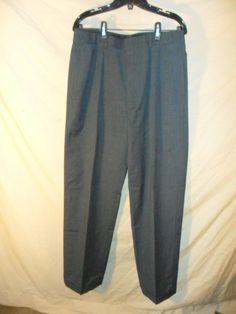 VINTAGE Polo Ralph Lauren Men's Gray Wool Dress Pants w/ Suspender Buttons 32x34 #PoloRalphLauren #DressPleat
