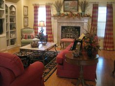 Love this living room - so cozy and inviting!