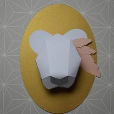 Kit trophée ours décoration chambre enfant bébé
