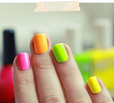 -Neon polish for Summer!