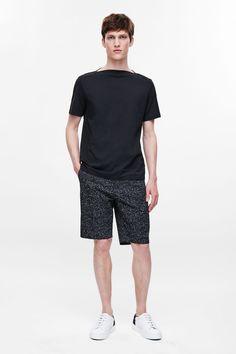 Wide-neck cotton t-shirt