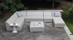 Mood Set 6 Piece Patio Sectional Price: $4,228.00–$4,648.00 Preorder now and save 10%! available in Sunbrella fabric or Divano Leather. Multiple color choice.