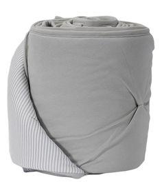Look at this #zulilyfind! Living Textiles Baby Gray Pin Tuck Bumper by Living Textiles Baby #zulilyfinds
