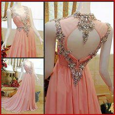 2017 Custom Made Charming Prom Dress,Chiffon Prom Dress,A-Line