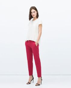 ZARA - WOMAN - COTTON TROUSERS