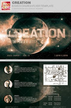 Marvel Of Creation Church Flyer Template   Print Templates