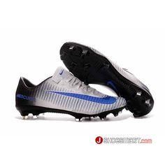 new product 9be70 287a9 16SS秋 新作 ナイキ NIKE サッカースパイク マーキュリアルヴェイパー11 メンズ Nike Mercurial Vapor XI FG  白黑青 ホワイト ブラック ブルー