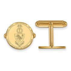 14ky LogoArt University of Miami Crest Cuff Link