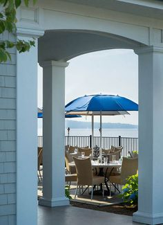 Take in the view of the Sakonnet River while dining on fresh seafood at The Boat House Restaurant in Tiverton, RI
