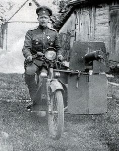Motorcycles In Russia. 1915.