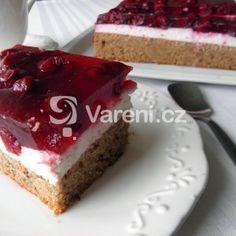 Řezy s tvarohovou náplní a višněmi Cheesecake, Food And Drink, Cheesecakes, Cherry Cheesecake Shooters