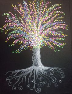 Join us at Pinot's Palette - Manalapan on Wed Dec 2015 for Colorful Roots. Seats are limited, reserve yours today! Family Painting, Dot Painting, Painting & Drawing, Family Tree Paintings, Canvas Painting Designs, Acrylic Canvas, Canvas Art, Family Tree Art, Paint And Sip