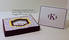 Monogram Box and Card laying down