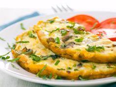 Receta de Omelet de Claras con Espinaca y Jitomate