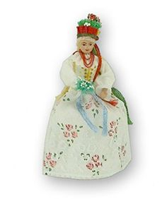 Polish Doll - Krakowianka Bride With Hidden Box - Bombonierka