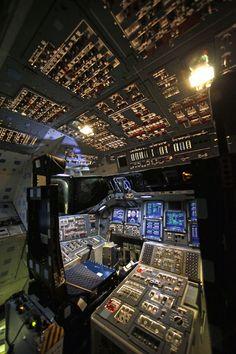 The Space Shuttle Endeavour's Cockpit