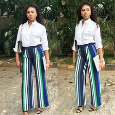 There is nothing quite as classic as the button down white shirt. There are also endless ways it can be dressed. Thus, check out how TV host, Stephanie Coker rocks hers.