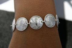 Silver Bracelet Fits 7 Inch Wrist. $100.00, via Etsy.