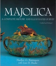 This book by Marilyn Karmason, published in 1989, remains the 'bible' on collecting majolica. It is out of print, sadly, but is still widely available in used condition. I treasure my copy! It is filled with in-depth history about each of the world's majolica makers and traces the rich history of this incredible form of pottery with plenty of visual reference.  Gonna get this book even though it's out of print.