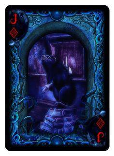 Bicycle R'lyeh Rising playing cards. Jack of Diamonds.