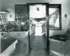 Awesome photo of USS Macon control car interior.