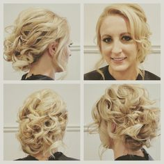 Tousled updos for bridesmaids by www.theposhparlour.com