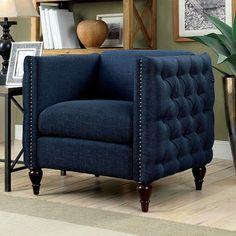 Furniture Of America Emer Sofa Chair CM6780BL-CH-SET For $210