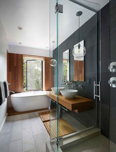 Dark color timeless bathroom design