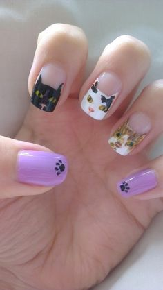 National Cat Day Manicures and Nail Art | Styleite