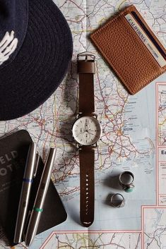 Planning spring break with our Commuter Chronograph in hand. via @ derrickder Flat Lay Photography, Clothing Photography, Product Photography, Black Friday Deals Online, Online Deals, Fashion Accessories, Fashion Jewelry, Jewelry Accessories, Collections Photography
