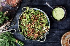 Find the recipe for Farmers' Market Quinoa Salad and other herb recipes at Epicurious.com