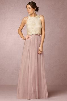 Rose Quartz Louise Tulle Skirt | BHLDN