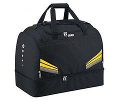 JAKO Sporttasche Pro - mit Schuhfach , Größe:Senior;Farbe:schwarz/citro/weiß - http://schmuckhaus.online/jako/jako-sporttasche-pro-mit-schuhfach-groesse-farbe