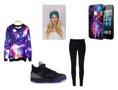 """Galaxy Inspired"" by aaleeyahhoward ❤ liked on Polyvore"
