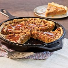 Pumpkin Crumble Pie: A recipe from Southern Cast Iron - Taste of the South