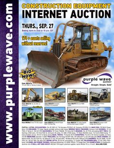 Construction Equipment Auction  September 27, 2012  http://purplewave.co/120927