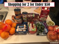Aldi Grocery Haul -- Shopping for 2 for Under $50 Week of March 14 meal plan --A Writer Cooks View this post at http://www.awritercooks.com/grocery-haul-and-meal-plan-march-14/