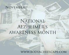 November is alzheimers awareness month Massage openings 11/6 Greta 10 11:15 12:30 Andrew 11 1:30 4 Lauren 4:45 Schedule online! http://ift.tt/1LxEz0V #bodyacheescape #alzheimersawareness