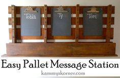 EASY+Pallet+Message+Board