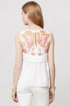 Love everything about this summery top, the front is just as unique and detailed!