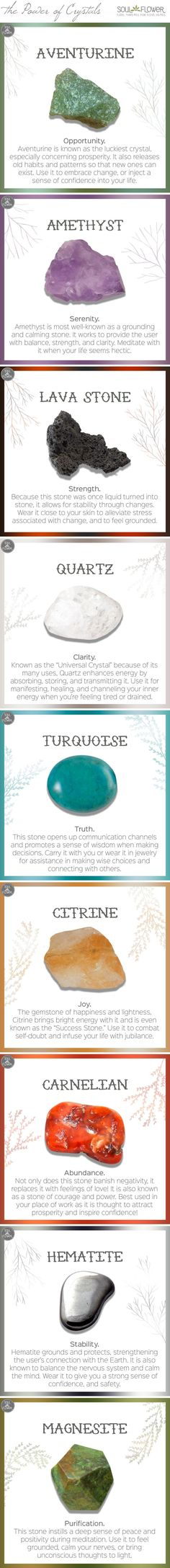 Which crystal speaks to your soul? (The meanings/properties of crystals)