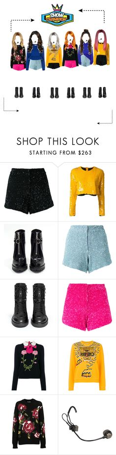 """""""[GRLSQUAD] WDYTO- ShowChampion"""" by powergirls-officele ❤ liked on Polyvore featuring Manish Arora, Manning Cartell, Prada, Ash, Gucci, Kenzo, Dolce&Gabbana and MSGM"""