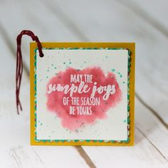 Watercolor gift tags and box featuring the Christmas Pines stamp set from Stampin' Up by Marisa Gunn Corporate Blog, Christmas Tag, Envelopes, Gift Tags, Stampin Up, Artisan, About Me Blog, Boxes, Scrapbooking