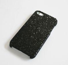 Black Diamond Glitter on material- iPhone Case - Tech & Gadgets - Accessories+ | Uncovet