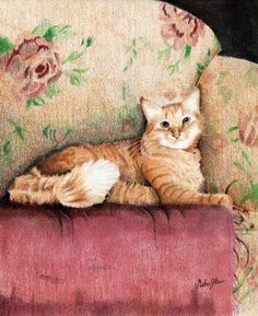 Orange Cat : For a client who loves her pretty kitty. One of my Pet Commissions.