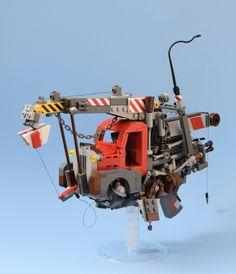 Flying pick up truck Steampunk Lego, Cool Lego, Awesome Lego, Lego Machines, Amazing Lego Creations, Lego Ship, Lego Spaceship, Lego System, Lego Mechs