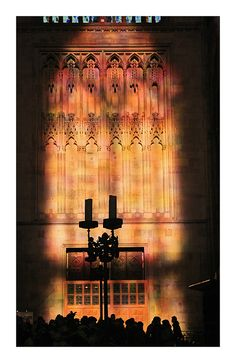 colourful light of the new glass window  in Cologne´s Cathedral