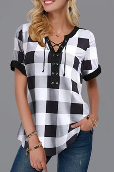Stylish Tops For Girls, Trendy Tops, Trendy Fashion Tops, Trendy Tops For Women Page 3 Stylish Tops For Girls, Trendy Tops For Women, Blouses For Women, Women's Blouses, Western Dresses For Women, Boys Clothes Style, Vetement Fashion, Plaid Outfits, Chic Outfits